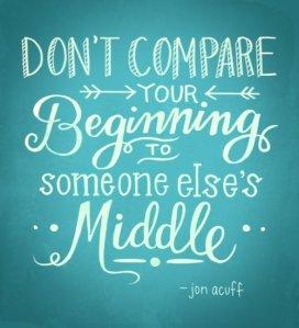 Dont compare Jon Acuff