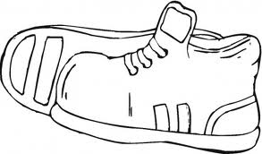 shoe coloring page