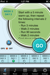 Week 3 of my Ease into 5K running plan.