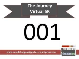 Bib for The Journey 5k