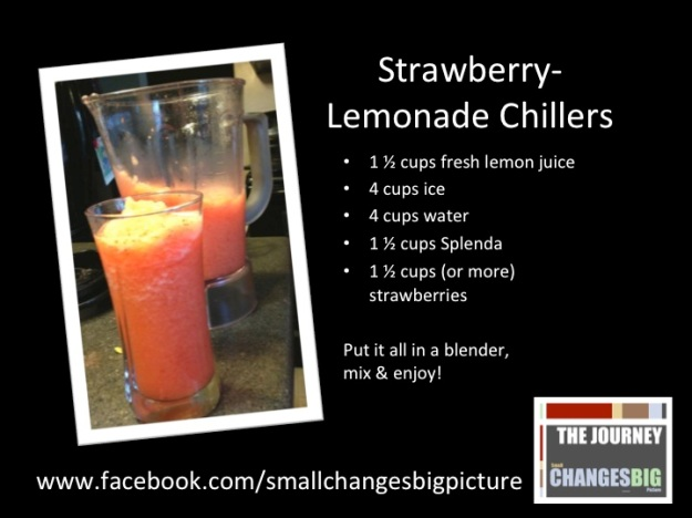 Strawberry-Lemonade Chillers by The Journey www.smallchangesbigpicture.wordpress.com