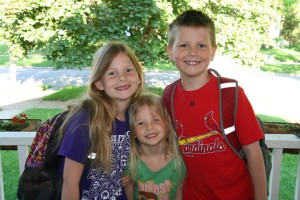 My three kiddos on the last day of school this year.