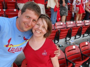 My hubby and I at a recent Cardinals game.