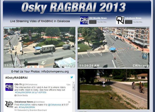 Live streams of my town hosting RAGBRAI!