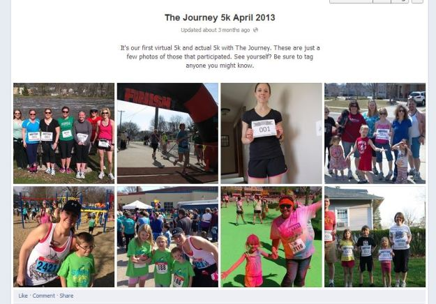 The Journey's first Virtual 5K in April.