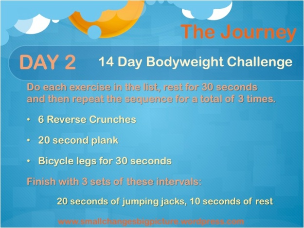 Day 2 of the 14 Day Bodyweight Challenge