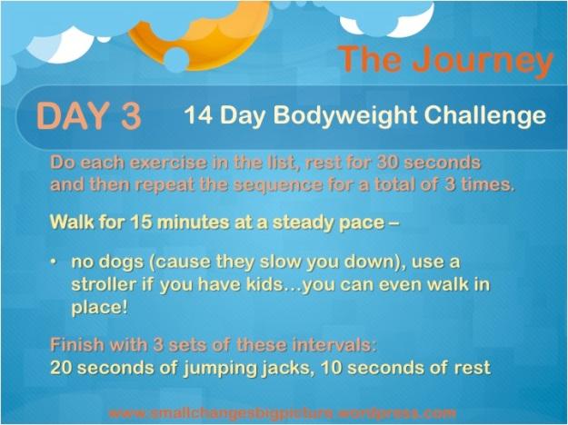 14 Day Bodyweight Challenge Day 3