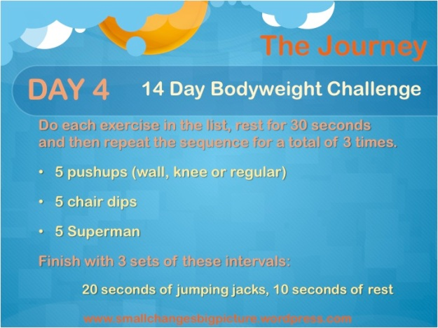 Day 4 of the 14 Day Bodyweight Challenge