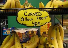 funny banana sign