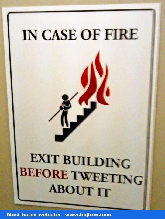 funny fire sign