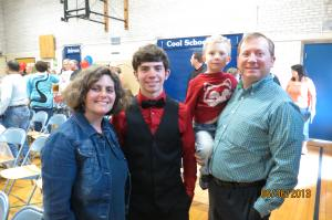 Ben graduating from 8th grade
