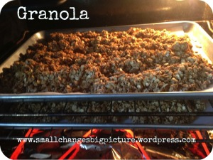 granola cooking